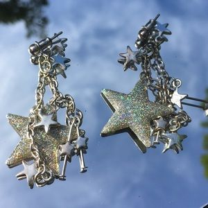 Sparkle Star Statement Earrings